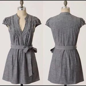 Fei by Anthropologie denim cap sleeve dress
